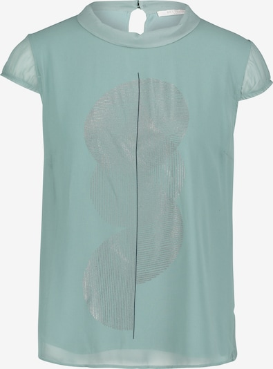 Betty & Co Blusenshirt in mint / silber: Frontalansicht