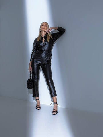 All Black Leather Look