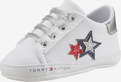 TOMMY HILFIGER Laufernschuh in rot / silber / weiß, Produktansicht