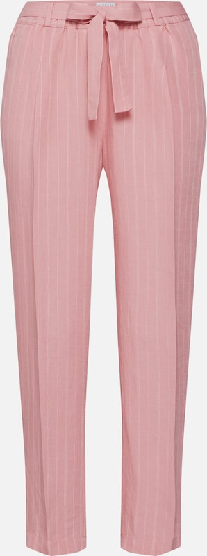 re.draft Hose  'Striped Pants with Pleat' in rosa / weiß, Produktansicht