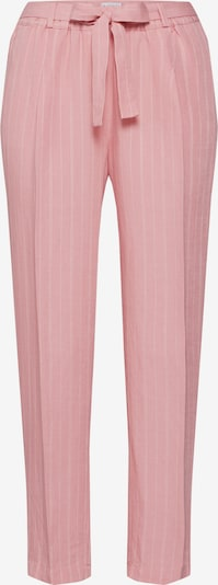 re.draft Hose  'Striped Pants with Pleat' in rosa / weiß: Frontalansicht