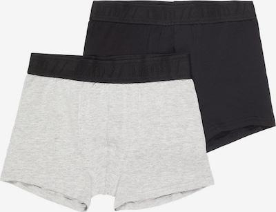NAME IT 2er-Pack Boxershorts in graumeliert / schwarz: Frontalansicht