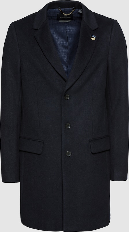 SCOTCH & SODA Mantel 'Classic 3-button coat in wool blend quality' in nachtblau  Mode neue Kleidung