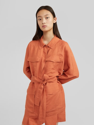 EDITED Kurtka przejściowa 'Carey' w kolorze brązowy / rdzawobrązowym, Podgląd na modelu(-ce)