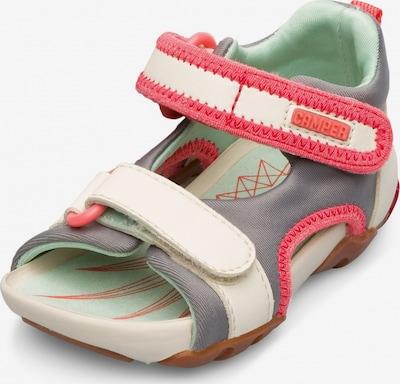 CAMPER Sandale 'Wous' in grau / pink / weiß, Produktansicht