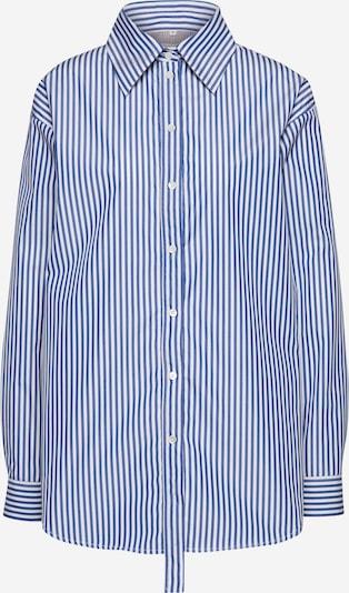 POSTYR Hemdbluse 'POSSOLSIKKE SHIRT' in camel / blau / weiß, Produktansicht