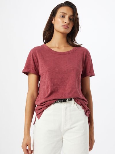 GAP Shirt 'Easy Roll' in blutrot: Frontalansicht