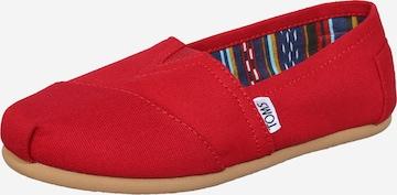 Espadrile de la TOMS pe roșu