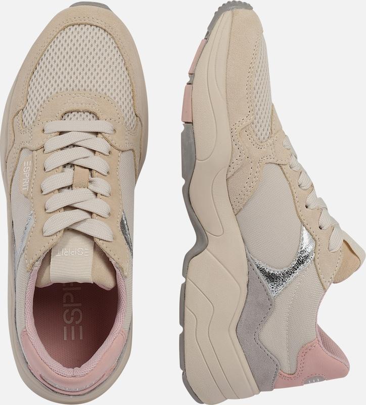 ESPRIT Sneaker 'Jana Fun LU' in silber weiß offwhite