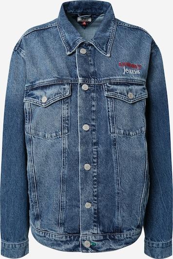 Tommy Jeans Tussenjas 'Trucker' in de kleur Blauw denim / Rood / Wit, Productweergave