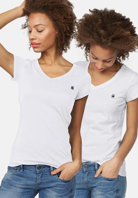G-STAR RAW G-Star V-Shirt »Logo V-neck« (Packung, 2er-Pack)