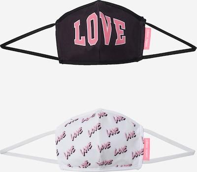 Inferno Ragazzi Masque en tissu 'LOVE AROUND THE WORLD' en rose / noir / blanc, Vue avec produit