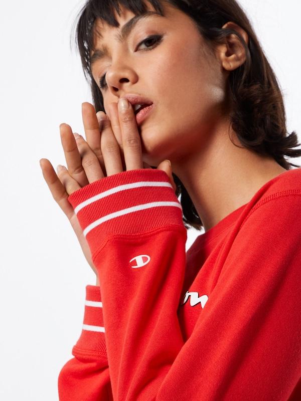 Champion Champion Champion Authentic Athletic Apparel Sweatshirt in rot   weiß  Freizeit, schlank, schlank 62d29d