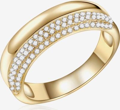 Rafaela Donata Ring in goldgelb / weiß: Frontalansicht