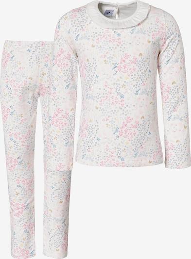 PETIT BATEAU Schlafanzug in blau / rosa / weiß, Produktansicht