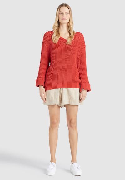 khujo Pullover ' NIKKI ' in orange / rot, Modelansicht