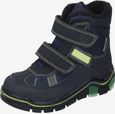 RICOSTA Stiefel in nachtblau / kiwi: Frontalansicht