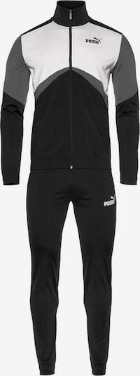 PUMA Trainingsanzug 'CB Retro' in grau / schwarz / weiß, Produktansicht