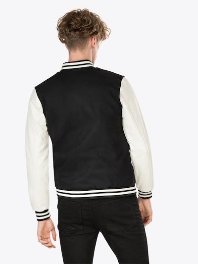 Urban Classics Jacke 'Oldschool College Jacket' in schwarz: Rückansicht