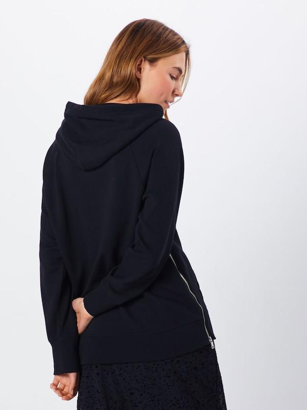 Up Tunic' Sweatshirt In Gap Zwart 'zip Ok8nZwPXN0