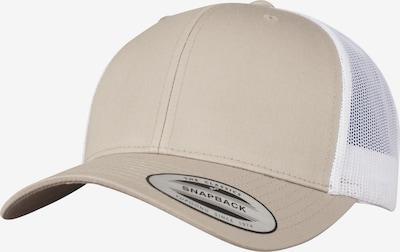 Flexfit Cap 'Retro' in cappuccino / weiß, Produktansicht
