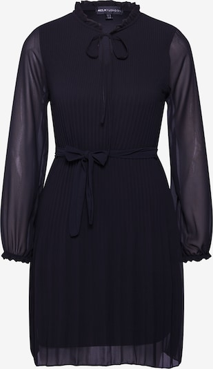 Mela London Kleit 'LONG SLEEVE PLEATED BELTED DRESS' must, Tootevaade