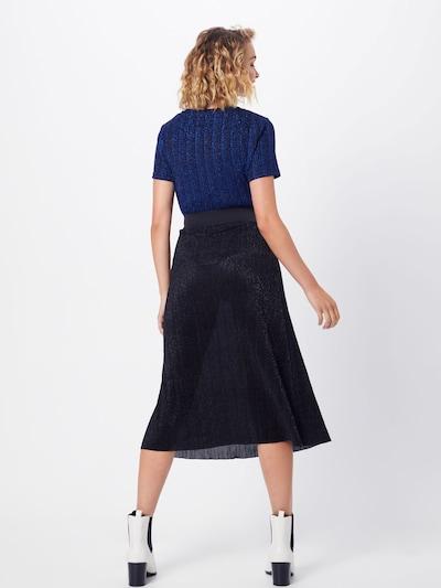PIECES Spódnica 'PCJUNE HW MIDI SKIRT' w kolorze czarnym: Widok od tyłu