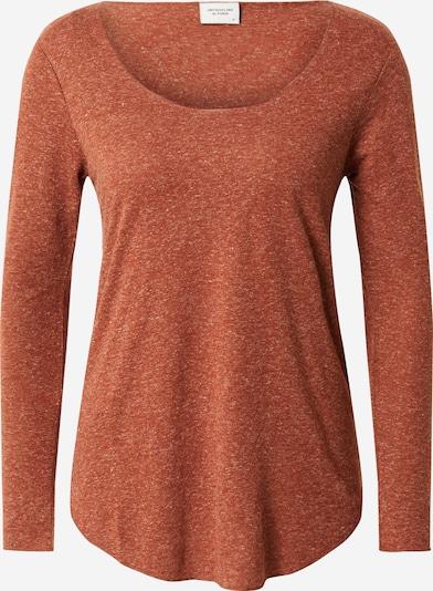 JACQUELINE de YONG Shirt 'JDYLINETTE L/S TOP JRS RPT5' in de kleur Oranjerood, Productweergave