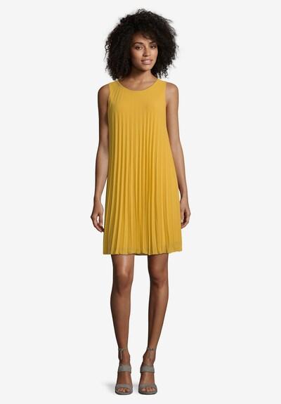 Cartoon Plisseekleid ohne Arm in goldgelb, Modelansicht