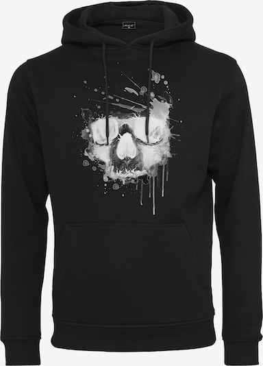 Mister Tee Mikina 'Waterpaint Skull' - šedá / černá / bílá, Produkt