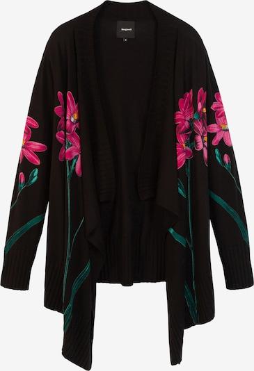 Desigual Gebreid vest 'Amarante' in de kleur Grijs / Pink / Zwart, Productweergave