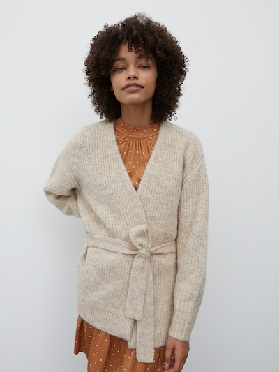 EDITED Strickjacke 'Annika' in beige, Modelansicht