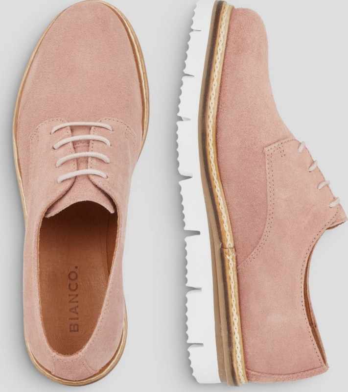 Bianco Derby-Schuhe Cleaved Laced Up Hohe Qualität