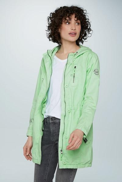Soccx Parka in grün, Modelansicht