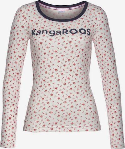 KangaROOS Shirt in navy / mischfarben / offwhite, Produktansicht