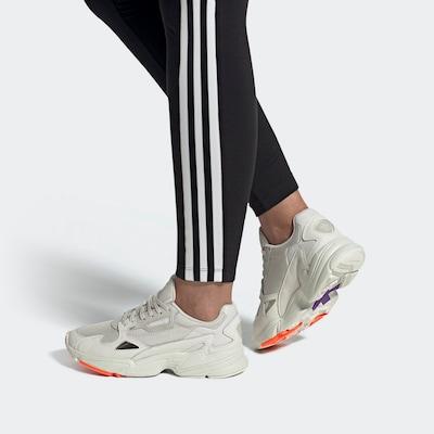 ADIDAS ORIGINALS Sneaker in neonorange / schwarz / offwhite / naturweiß: Frontalansicht