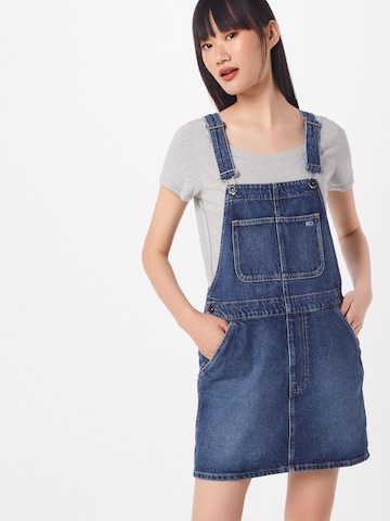 Tommy Jeans Overgooier 'Dungaree' in Blauw