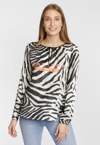 Grace Blouse in de kleur Zwart / Wit, Modelweergave