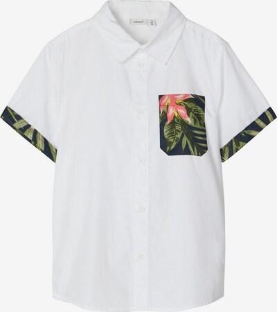 NAME IT Kurzarm Hemd in mischfarben / weiß, Produktansicht