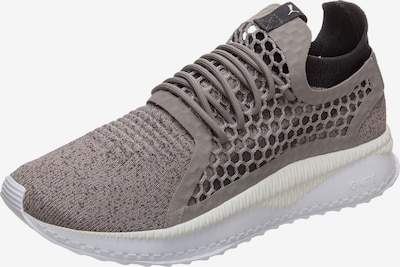 PUMA Sneaker 'TSUGI Netfit v2 evoKNIT' in dunkelgrau / weiß: Frontalansicht