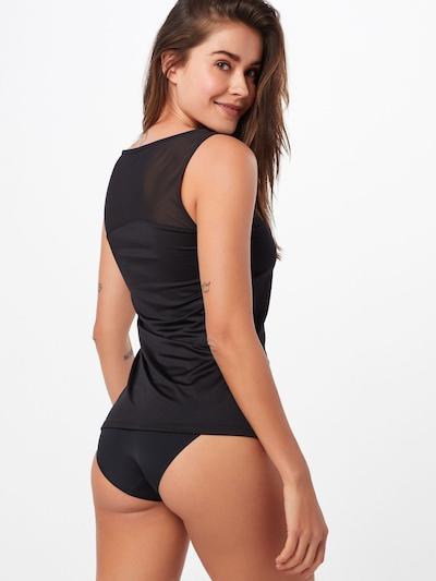CALIDA Unterhemd 'Feminine Air' in schwarz: Rückansicht