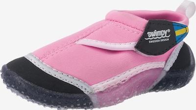 SWIMPY Kinder Aquaschuhe in rosa / schwarz / weiß, Produktansicht