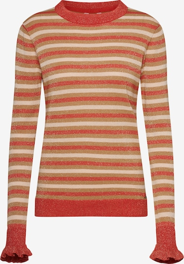 Pepe Jeans Pullover 'Estel' in beige / rot, Produktansicht