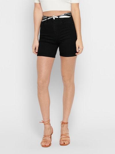ONLY Shorts 'ONLHOPE LIFE HW SCARF BOX DNM SHORTS BJ' in schwarz, Modelansicht