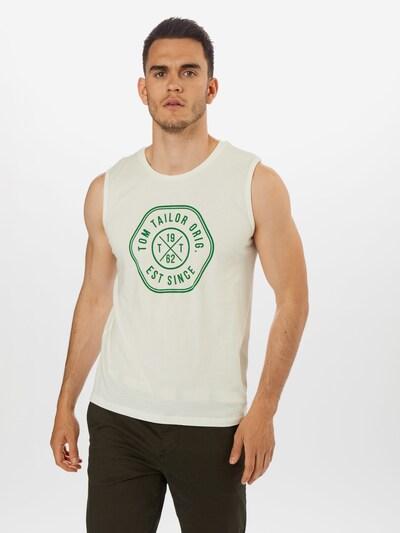 TOM TAILOR T-Shirt 'tanktop with print' en crème: Vue de face