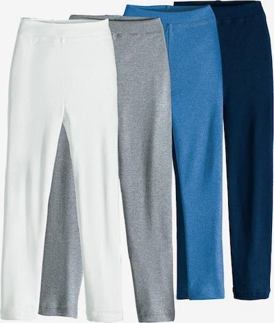 Maier Sports Leggings in ultramarinblau / blaumeliert / graumeliert / weiß, Produktansicht