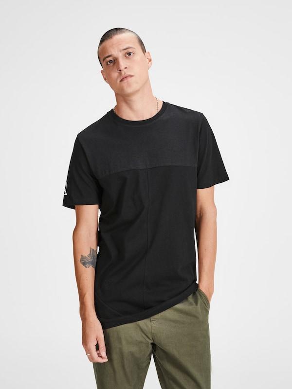 amp; Jones Jack Longline Schwarz shirt T F1wg5dqwnT