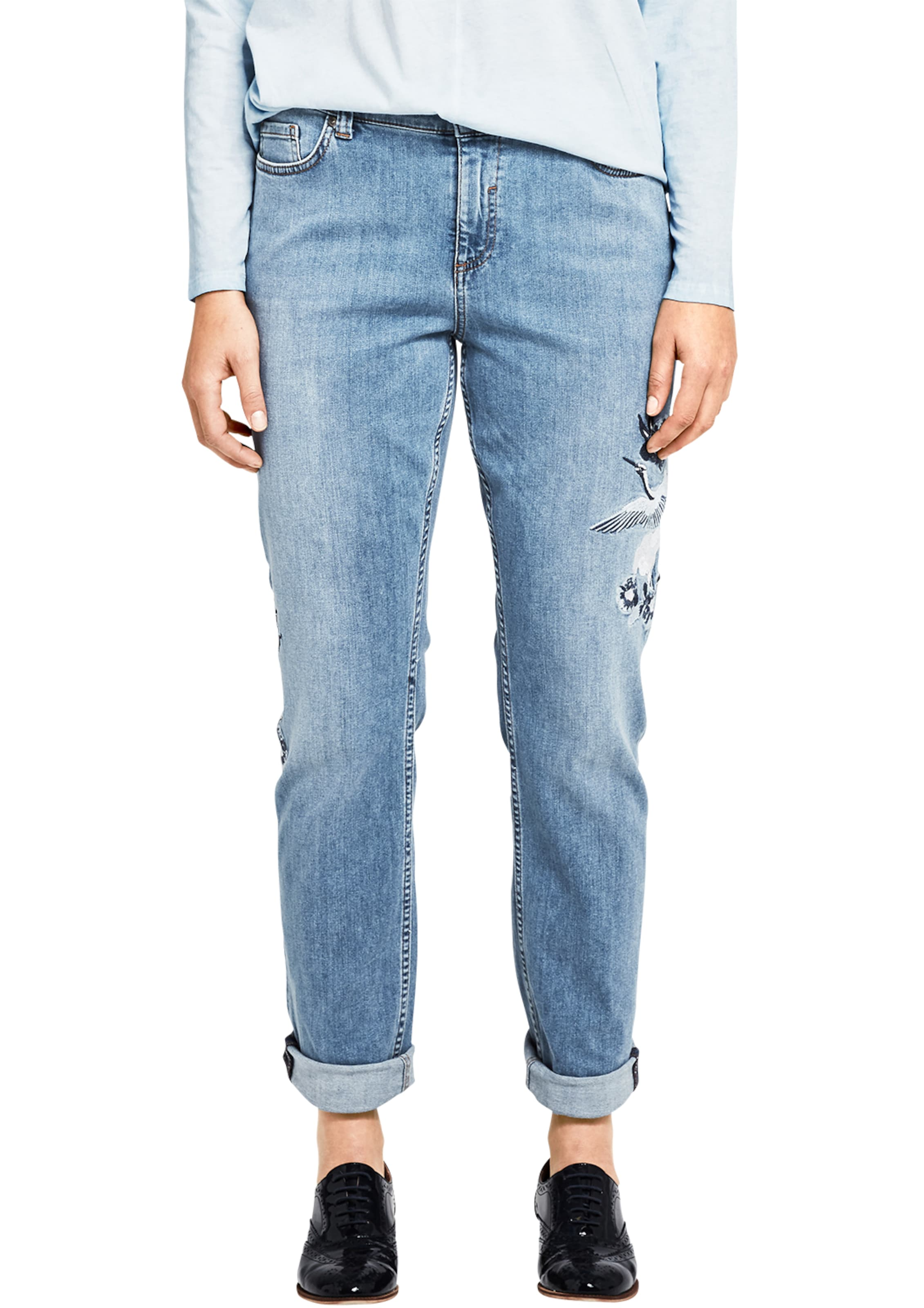 TRIANGLE Curvy Slim: Jeans mit Embroidery Online 100% Garantiert Factory Outlet Günstig Online Großhandelspreis Zu Verkaufen ad7ojbZO2