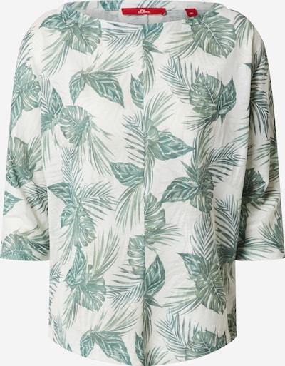 s.Oliver Shirt in grün / oliv / weiß, Produktansicht