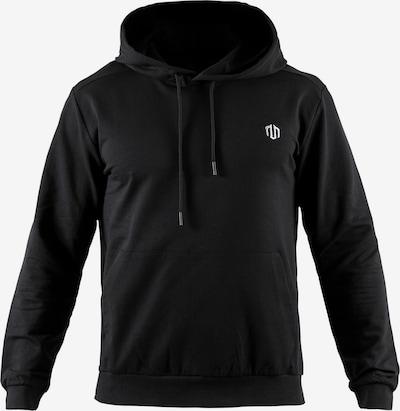 MOROTAI Sportpullover 'Active Dry Hoodie' in schwarz / weiß, Produktansicht